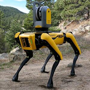 Trimble X7 and Robot 'Dog'