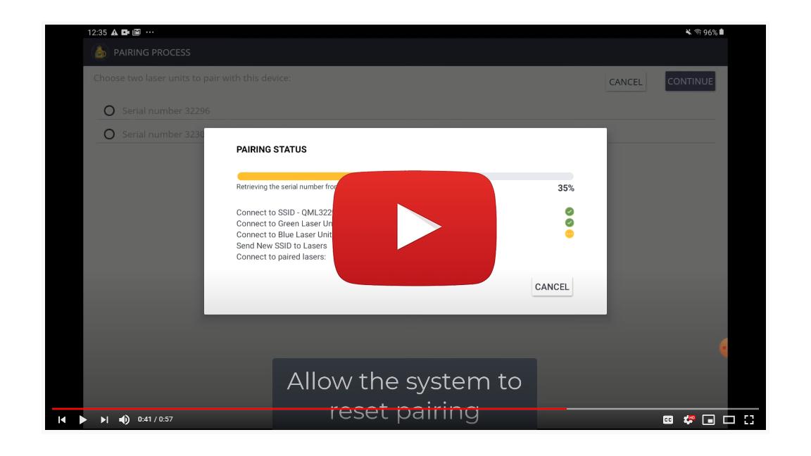 Reset Pairing - QML XT Layout App